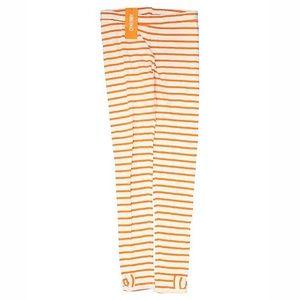 NWT Gymboree orange & white striped leggings sz 12